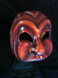 Arlecchino Bello,dark, commedia mask by Newman