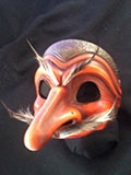 Capitano Tres Huevos (two tone) - Commedia mask by Newman
