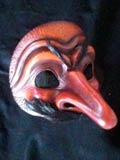 Capitano Tres Huevos, dark - commedia mask by Newman