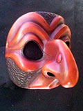 Pulliciniella, dark - commedia mask by Newman