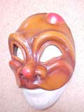 Arlecchino de Flambeaux - commedia mask by Newman