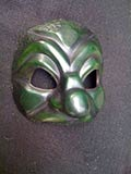 Green Brighella - commedia mask by Newman