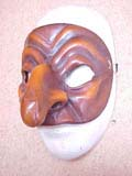Pulcinella (Dark) - commedia mask by Newman
